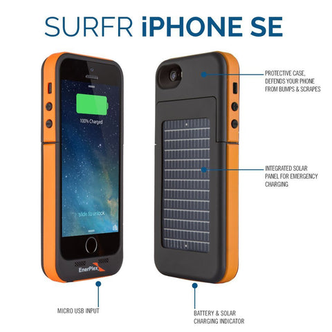 EnerPlex Iphone 5/5S/SE Surfr Solar Battery Case