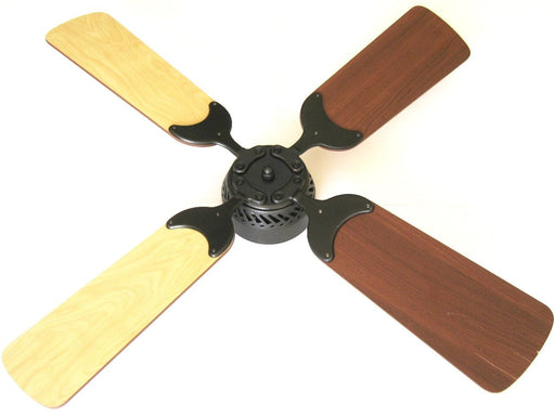 Global Electric 36-inch Non-Brush DC12V Ceiling Fan, Oil Rubbed Bronze finish with Wall Control, Maple/Cherry Reversible Blades  The Cabin Depot- The Cabin Depot Off-Grid Off Grid Living Solutions Cabin Cottage Camp Solar Panel Water Heater Hunting Fishing Boats RVs Outdoors
