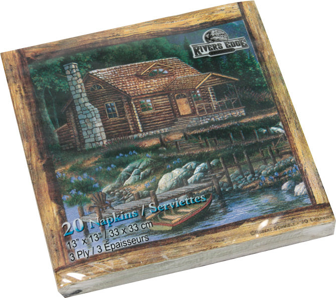 Cabin Scene Napkins Leisure The Cabin Depot- The Cabin Depot Off-Grid Off Grid Living Solutions Cabin Cottage Camp Solar Panel Water Heater Hunting Fishing Boats RVs Outdoors
