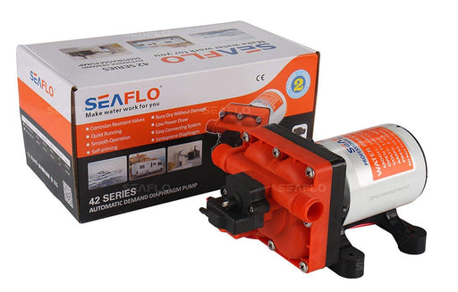 SEAFLO 12v Diaphragm Pump 3GPM 55PSI Water Heater SEAFLO- The Cabin Depot Off-Grid Off Grid Living Solutions Cabin Cottage Camp Solar Panel Water Heater Hunting Fishing Boats RVs Outdoors