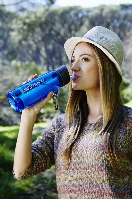 LifeStraw Go Water Filtration Eartheasy- The Cabin Depot Off-Grid Off Grid Living Solutions Cabin Cottage Camp Solar Panel Water Heater Hunting Fishing Boats RVs Outdoors
