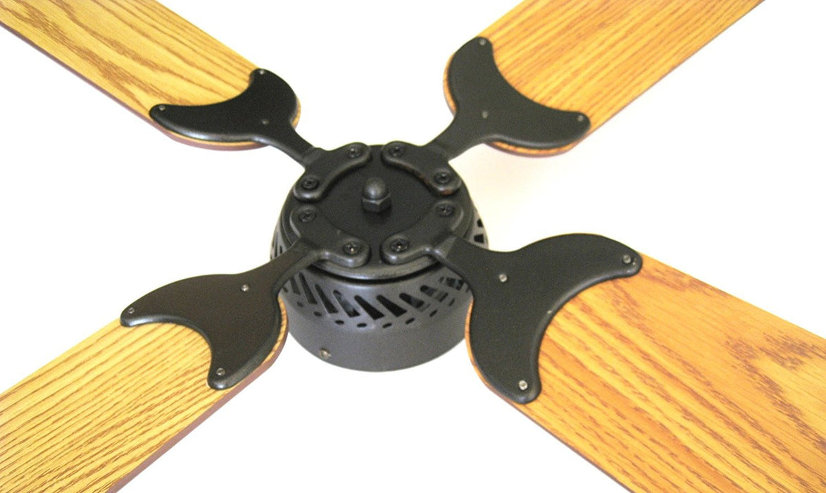 Global Electric 42-inch Non-Brush DC12V Ceiling Fan, Oil Rubbed Bronze Finish with Remote Control, Light Oak/Oak Reversible Blades  The Cabin Depot- The Cabin Depot Off-Grid Off Grid Living Solutions Cabin Cottage Camp Solar Panel Water Heater Hunting Fishing Boats RVs Outdoors