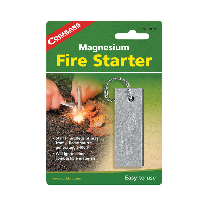 Coghlans Magnesium Fire Starter Accessories Coghlans- The Cabin Depot Off-Grid Off Grid Living Solutions Cabin Cottage Camp Solar Panel Water Heater Hunting Fishing Boats RVs Outdoors