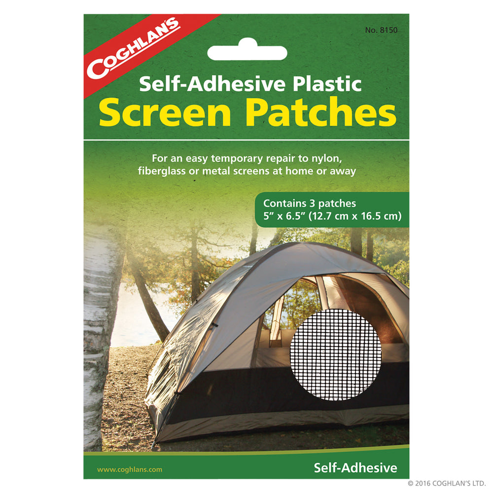 Coghlans Screen Patch - 3pk Accessories Coghlans- The Cabin Depot Off-Grid Off Grid Living Solutions Cabin Cottage Camp Solar Panel Water Heater Hunting Fishing Boats RVs Outdoors