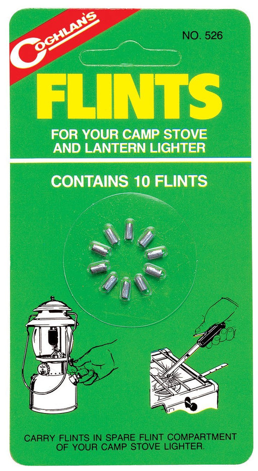 Coghlans Flints - 10Pk Accessories Coghlans- The Cabin Depot Off-Grid Off Grid Living Solutions Cabin Cottage Camp Solar Panel Water Heater Hunting Fishing Boats RVs Outdoors