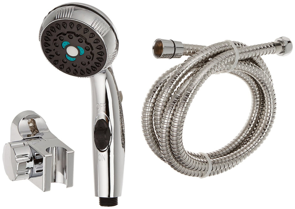 Eccotemp Chrome Shower Head and Stainless Steel Hose Water Heater Eccotemp- The Cabin Depot Off-Grid Off Grid Living Solutions Cabin Cottage Camp Solar Panel Water Heater Hunting Fishing Boats RVs Outdoors