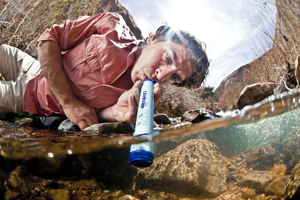 LifeStraw Personal Water Filter Water Filtration Eartheasy- The Cabin Depot Off-Grid Off Grid Living Solutions Cabin Cottage Camp Solar Panel Water Heater Hunting Fishing Boats RVs Outdoors