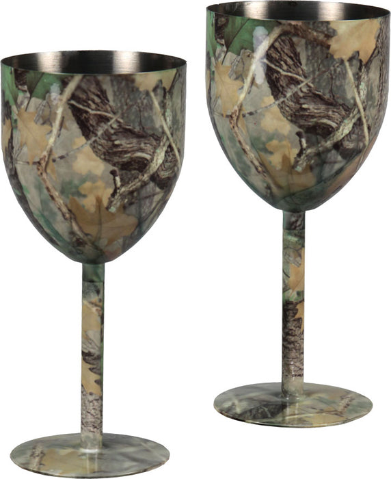 Wine Glasses 2-Pack Camo