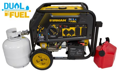 Firman Generator H05753 Hybrid Series DUAL FUEL (Propane or Gas) 5700 Watt