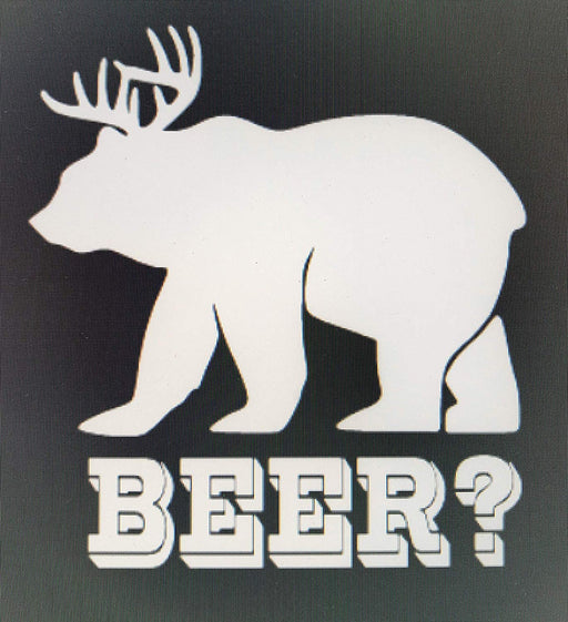 BEER? Bear/Deer Vinyl Decal Sticker