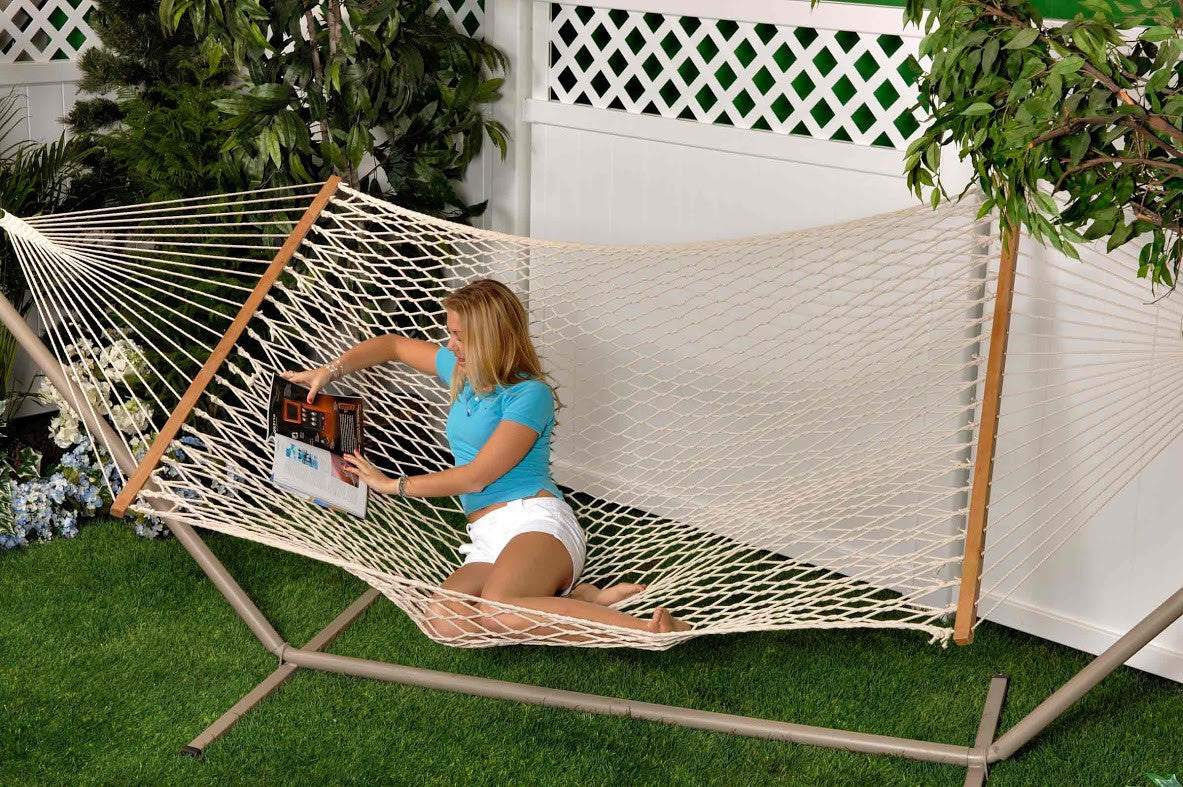 bliss   2 person classic cotton rope hammock bliss   2 person classic cotton rope hammock  u2013 the cabin depot  rh   thecabindepot
