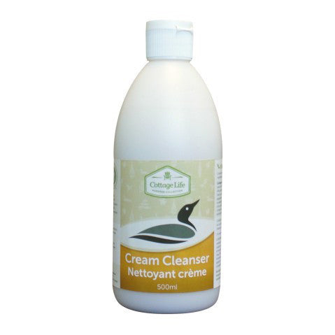 Cottage Life Cream Cleanser 500ml Cleaning Products Bebbington Industries- The Cabin Depot Off-Grid Off Grid Living Solutions Cabin Cottage Camp Solar Panel Water Heater Hunting Fishing Boats RVs Outdoors