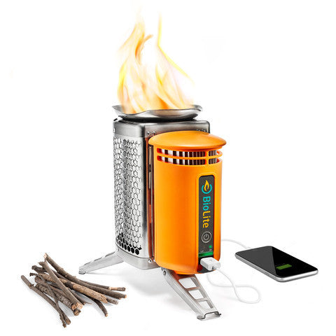 Biolite CampStove USB charger with flexlight