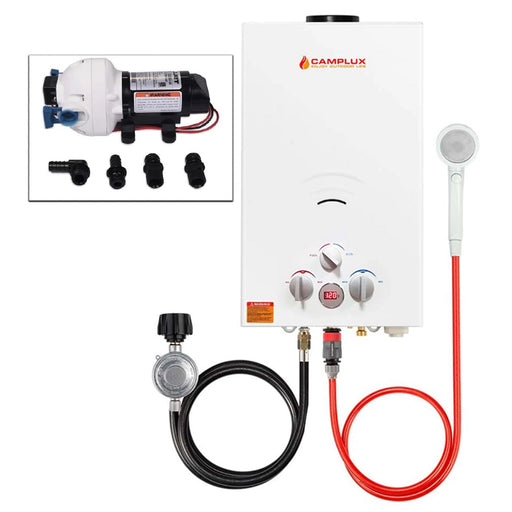 Camplux 10L Portable Tankless Water Heater w/ Flojet Pump