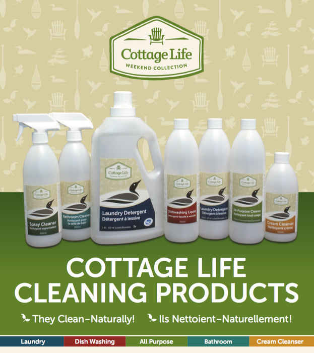 Cottage Life Laundry Detergent 750ml Cleaning Products Bebbington Industries- The Cabin Depot Off-Grid Off Grid Living Solutions Cabin Cottage Camp Solar Panel Water Heater Hunting Fishing Boats RVs Outdoors