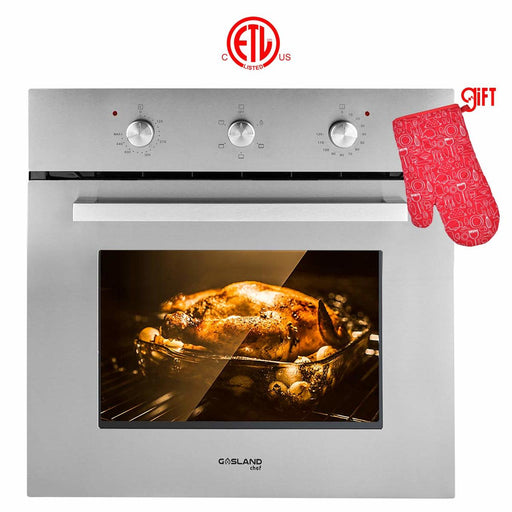 "Gasland Chef ES606MS 24"" Built-in Single Wall Oven, 6 Cooking Function, Stainless Steel Electric Wall Oven With Cooling Down Fan"