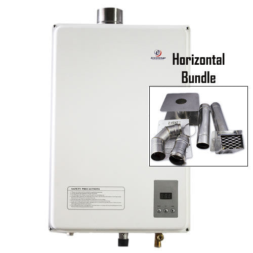 Eccotemp 45HI-LP Horizontal Bundle CSA Water Heater Eccotemp- The Cabin Depot Off-Grid Off Grid Living Solutions Cabin Cottage Camp Solar Panel Water Heater Hunting Fishing Boats RVs Outdoors