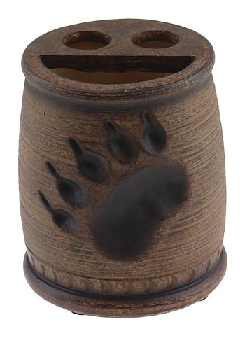 BEAR PAW PRINT TOOTHBRUSH/PEN HOLDER