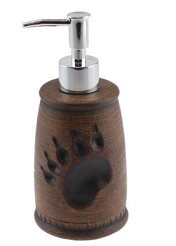 BEAR PAW PRINT SOAP DISPENSER