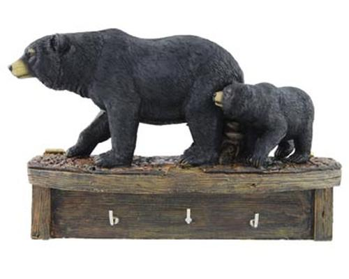 Black Bears on Key Holder  The Cabin Depot- The Cabin Depot Off-Grid Off Grid Living Solutions Cabin Cottage Camp Solar Panel Water Heater Hunting Fishing Boats RVs Outdoors
