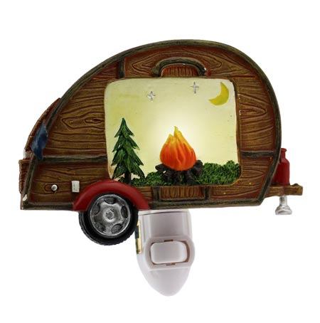 Travel Trailer Woody Night Light