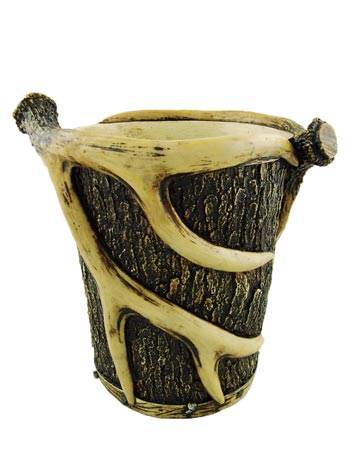 Antler/Pine Tree Waste Basket