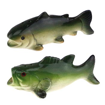 Fish Salt and Pepper Shakers Leisure Wilcor- The Cabin Depot Off-Grid Off Grid Living Solutions Cabin Cottage Camp Solar Panel Water Heater Hunting Fishing Boats RVs Outdoors