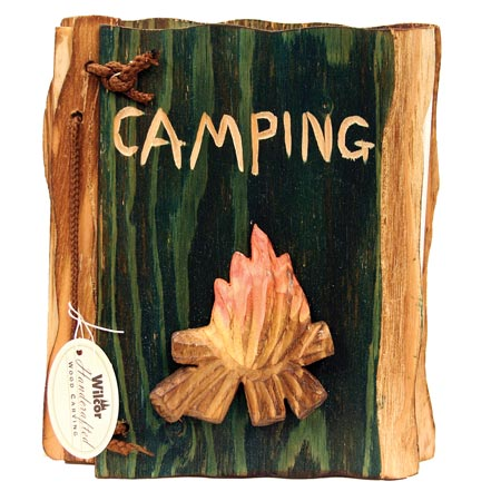 PHOTO ALBUM CAMPFIRE CARVED