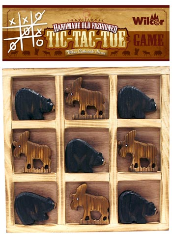 Tic Tac Toe Bear/Moose  The Cabin Depot- The Cabin Depot Off-Grid Off Grid Living Solutions Cabin Cottage Camp Solar Panel Water Heater Hunting Fishing Boats RVs Outdoors