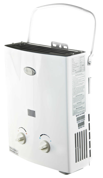 Marey Portable 5L Tankless Water Heater Water Heater Marey- The Cabin Depot Off-Grid Off Grid Living Solutions Cabin Cottage Camp Solar Panel Water Heater Hunting Fishing Boats RVs Outdoors