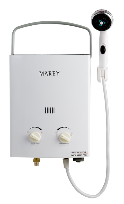 Marey Portable 5L Tankless Water Heater w/ FloJet Pump Water Heater Marey- The Cabin Depot Off-Grid Off Grid Living Solutions Cabin Cottage Camp Solar Panel Water Heater Hunting Fishing Boats RVs Outdoors