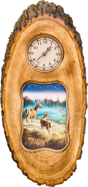 Rustic Cedar Wall Clock Leisure Rivers Edge- The Cabin Depot Off-Grid Off Grid Living Solutions Cabin Cottage Camp Solar Panel Water Heater Hunting Fishing Boats RVs Outdoors