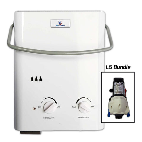 Eccotemp L5 Tankless Water Heater w/ Flojet Pump