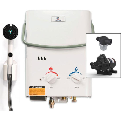 Eccotemp L5 Tankless Water Heater w/ Eccoflo Pump & Strainer