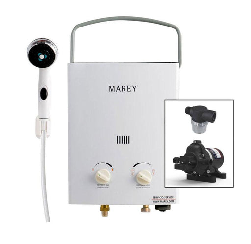 Marey Portable 5L Tankless Water Heater w/ Eccoflo Pump & Strainer *Order ETA June 14th!*