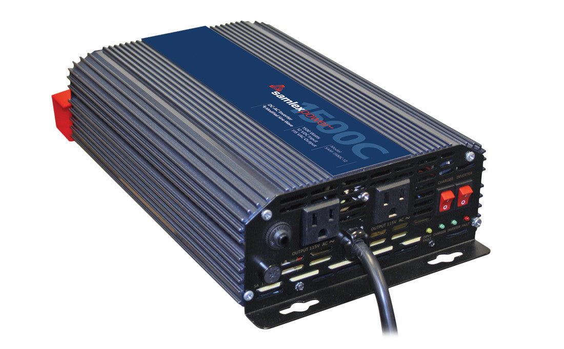 Samlex SAM-1500C-12 Modified Sine 1500w Inverter + Charger Alternative Energy Samlex- The Cabin Depot Off-Grid Off Grid Living Solutions Cabin Cottage Camp Solar Panel Water Heater Hunting Fishing Boats RVs Outdoors