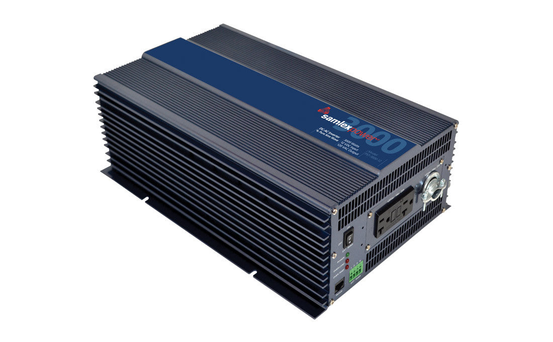 Samlex PST-3000-12 Pure Sine 3000w inverter (Hardwire capable) Alternative Energy Samlex- The Cabin Depot Off-Grid Off Grid Living Solutions Cabin Cottage Camp Solar Panel Water Heater Hunting Fishing Boats RVs Outdoors