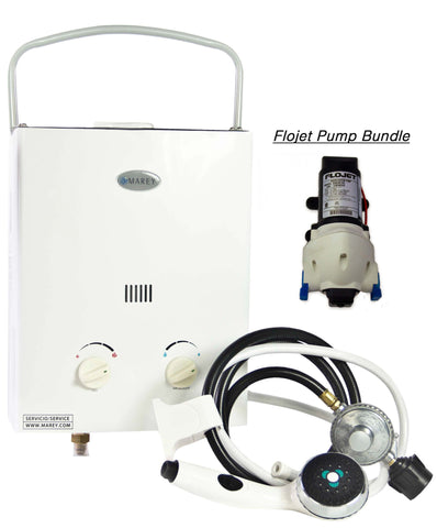 Marey Portable 5L Tankless Water Heater w/ FloJet Pump
