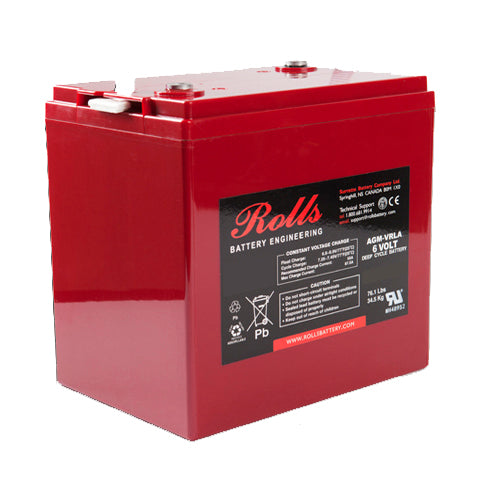 Rolls S6-220AGM 6v 220Ah Sealed Deep Cycle Battery *In Stock*