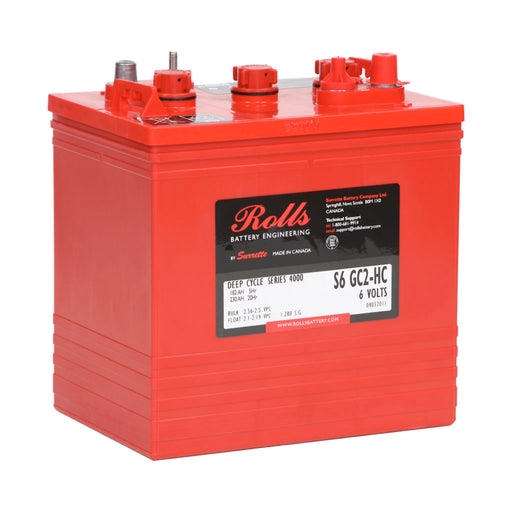 Rolls S6 GC2-HC 6v 230Ah Flooded Deep Cycle Battery *In Stock!*