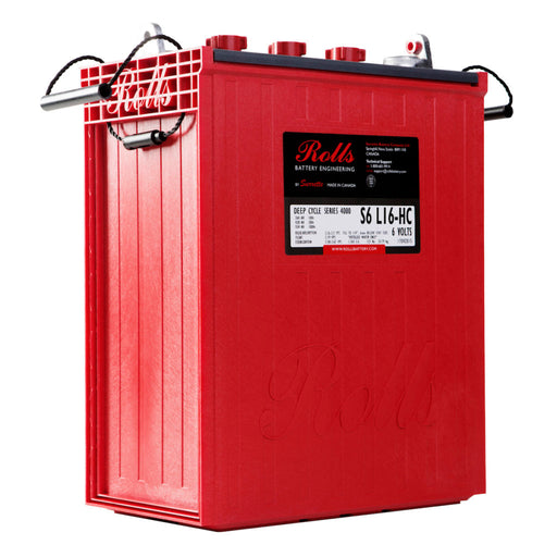 Rolls S6 L16-HC 6v 428Ah Flooded Deep Cycle Battery *In Stock!*