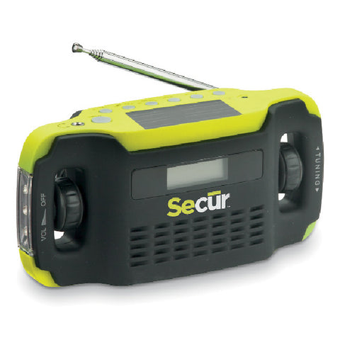 Digital Solar Radio & LED Flashlight