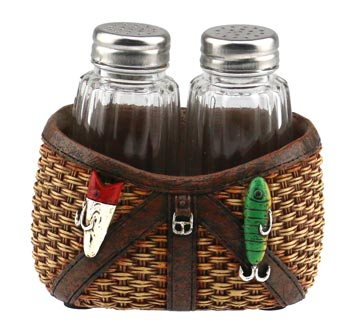 Fishing Basket Salt & Pepper Holder
