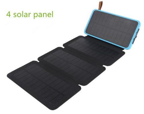 10000mah power bank and folding Solar panel