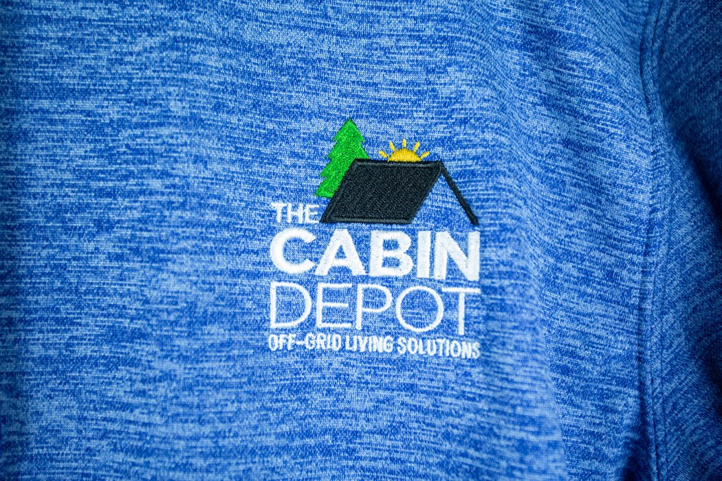 Men's Heathered Blue Hoodie - The Cabin Depot
