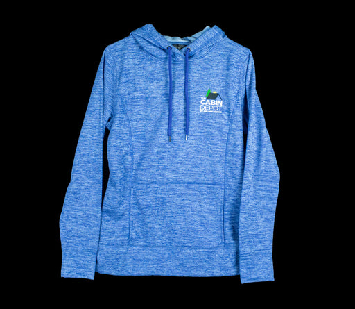 Women's Heathered Blue Hoodie - The Cabin Depot