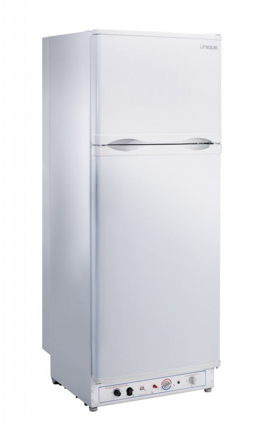 UNIQUE 10 CU/FT Propane Fridge with Freezer - White Appliances The Cabin Supply Depot- The Cabin Depot Off-Grid Off Grid Living Solutions Cabin Cottage Camp Solar Panel Water Heater Hunting Fishing Boats RVs Outdoors