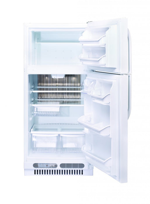 UNIQUE 15 CU/FT Propane Fridge with Freezer - White