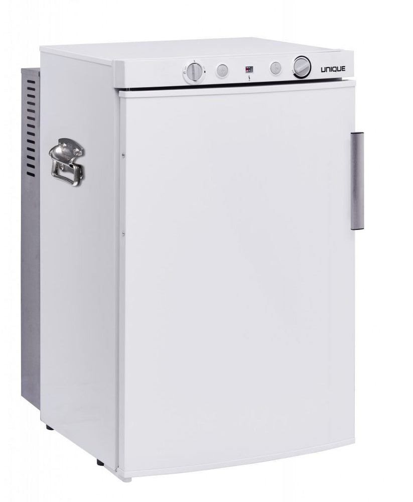 UNIQUE 3 CU/FT Propane Fridge with Freezer - White Appliances The Cabin Supply Depot- The Cabin Depot Off-Grid Off Grid Living Solutions Cabin Cottage Camp Solar Panel Water Heater Hunting Fishing Boats RVs Outdoors