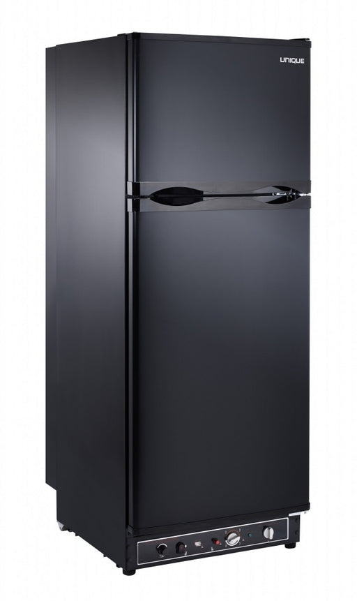 UNIQUE 8 CU/FT Propane Fridge with Freezer - Black